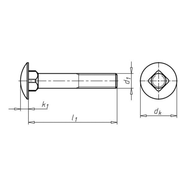 Болты DIN 603 мебельные