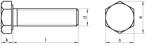 Болт Din 933 Гост с шестигранной головкой, нержавеющая сталь А2