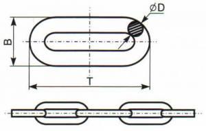 Цепи сварные длиннозвенные DIN 763