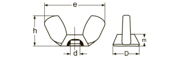 Гайки Барашковые (DIN 315)