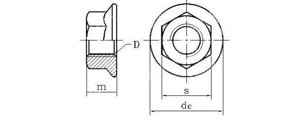 Гайки с фланцем (DIN 6923)