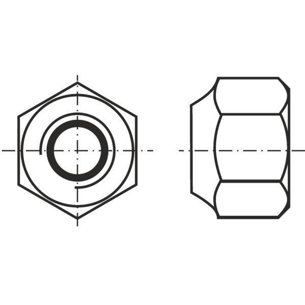 Гайки с контрящим кольцом (DIN 985)