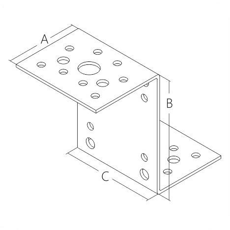 Крепежный уголок Z образный