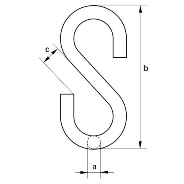 Крючок S-образный