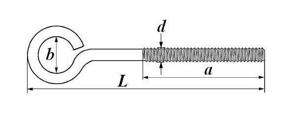 Крюки с метрической резьбой