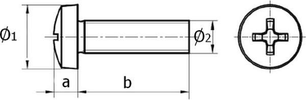 Винты полуцилиндрические (DIN 7985)