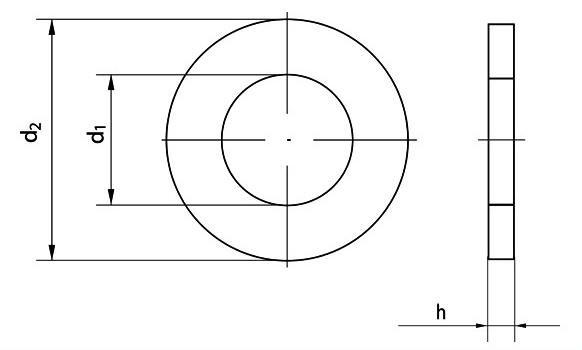 Шайбы плоские (DIN 125)