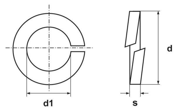 Шайбы гроверные (DIN 127)