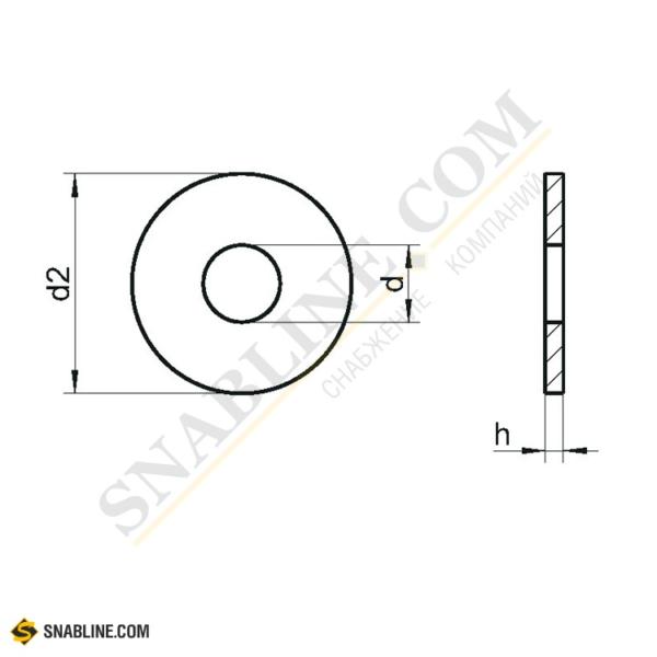 Шайбы увеличенные (DIN 9021)
