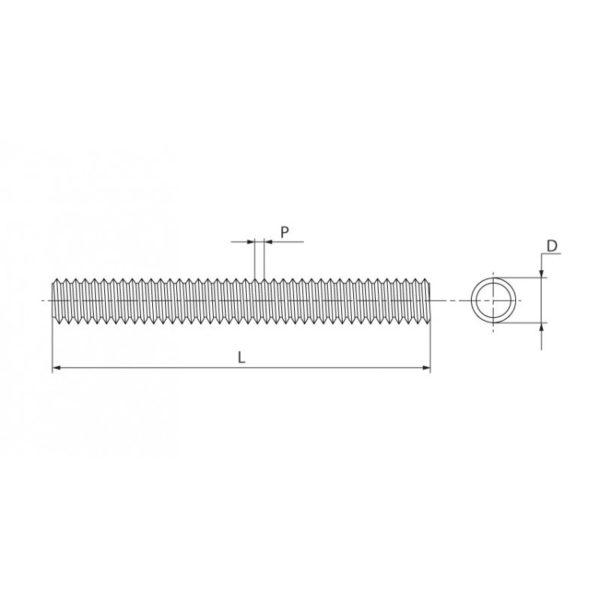 Шпильки резьбовые (DIN 975)