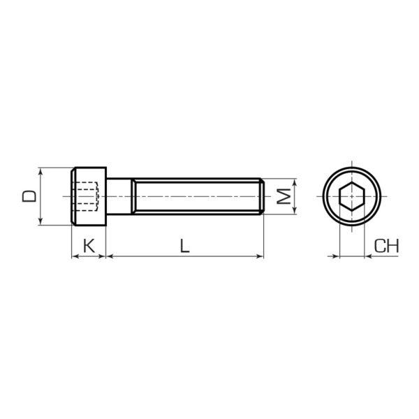 Винты (болт) DIN 912 с внутренним шестигранником