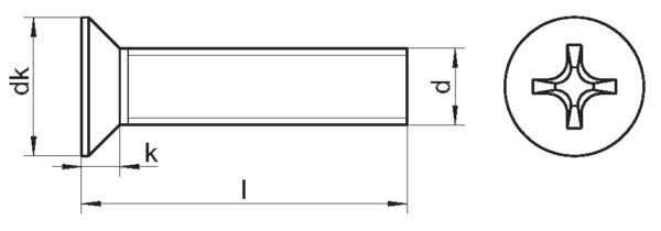 Винты потайные (DIN 965)