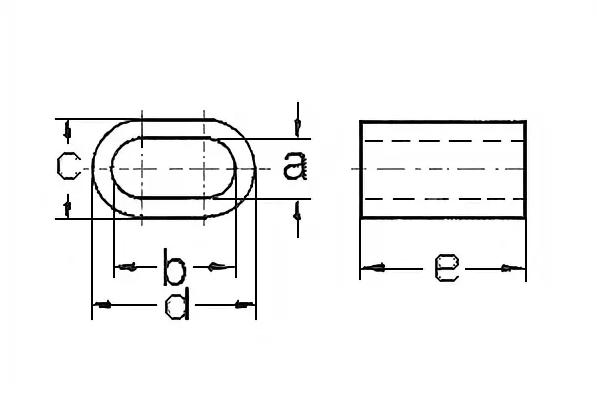 Зажим алюминиевый (DIN 3093)