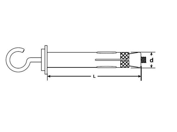 Анкер 4-х сегментный с крюком